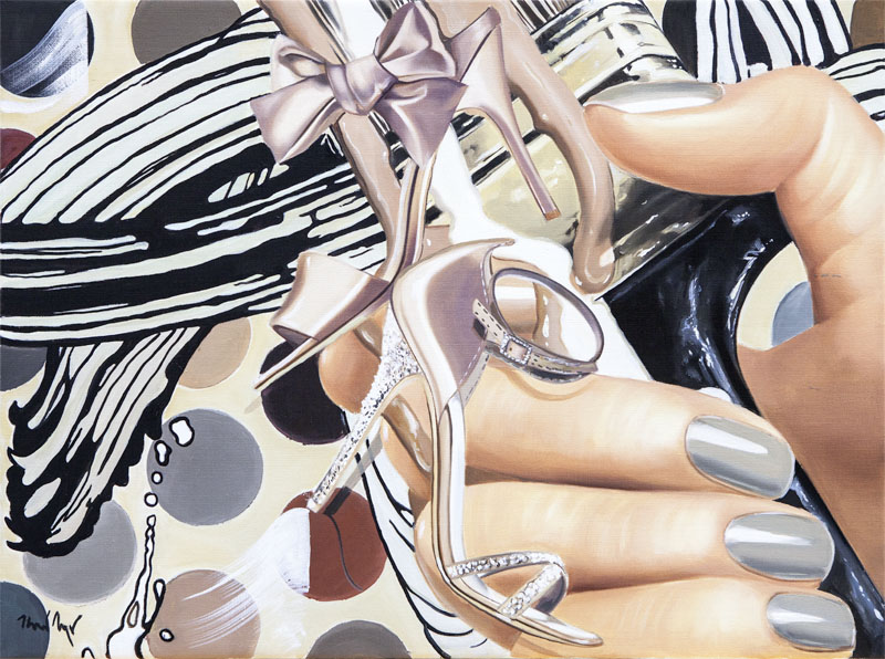 painted shoes_2014_Oel auf Leinwand_60x80cm kopieren