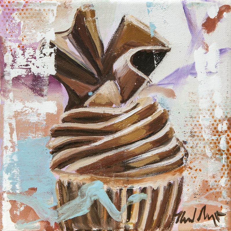 Cupcake_2017_Öl auf Leinwand_15x15cm