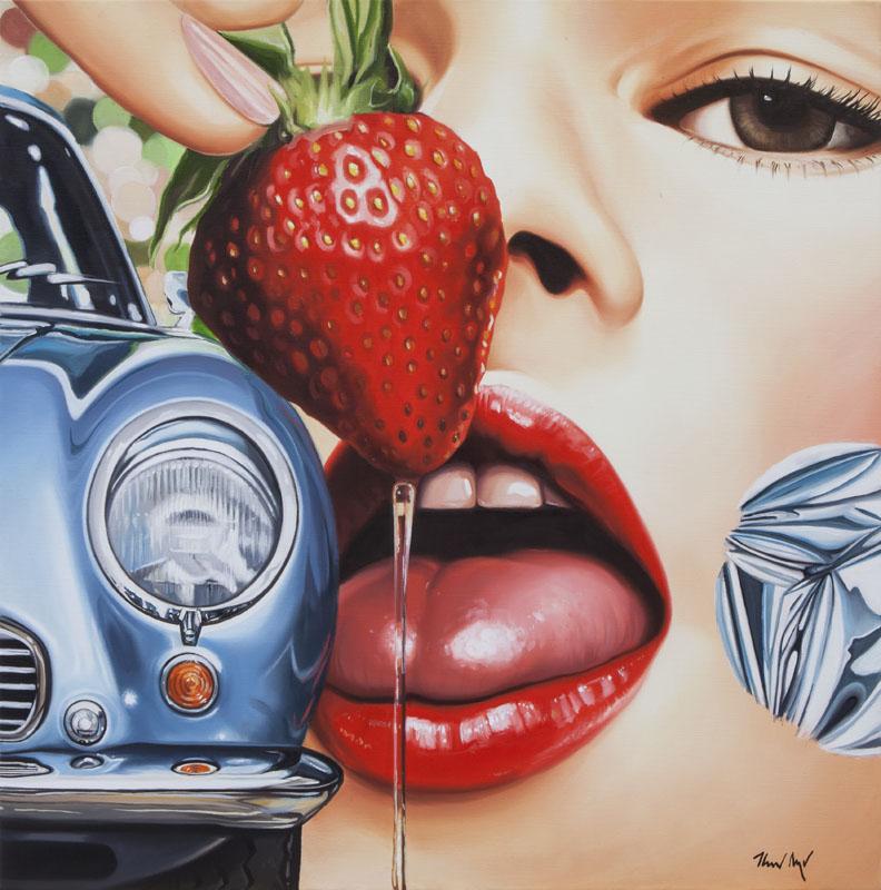 Strawberry_2017_Öl auf Leinwand_100x100cm